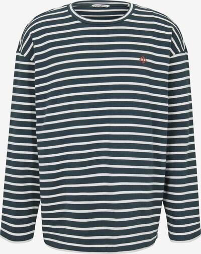 TOM TAILOR DENIM Shirt in grün / weiß, Produktansicht