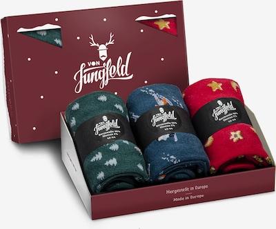 Von Jungfeld Sokken in de kleur Navy / Groen / Rood, Productweergave