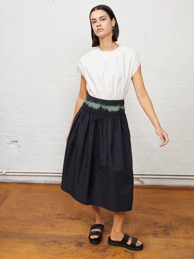 Aligne Kleid 'Emmeline' in creme / hellgrün / schwarz, Modelansicht
