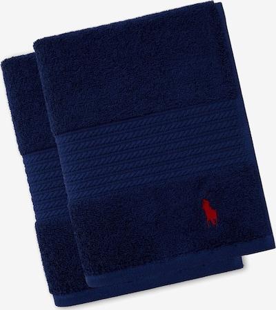 RALPH LAUREN Gästehandtücher 'POLO PLAYER' in blau / navy / dunkelblau, Produktansicht