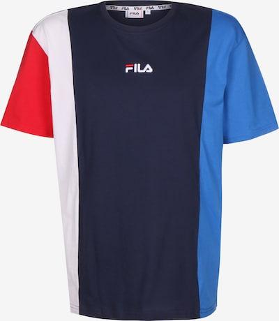 FILA T-Shirt in blau / royalblau / rot / weiß, Produktansicht