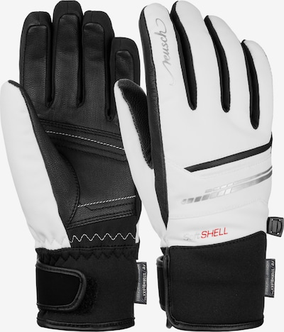 REUSCH Fingerhandschuhe 'Tomke STORMBLOXX' in schwarz / weiß, Produktansicht