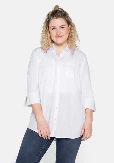SHEEGO Blouse in de kleur Wit, Modelweergave