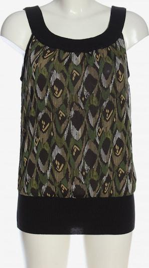 XXI ärmellose Bluse in S in grün / schwarz / weiß, Produktansicht