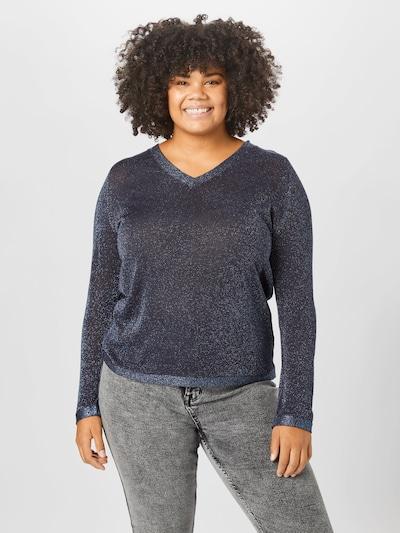 ONLY Carmakoma Pullover in dunkelblau, Modelansicht