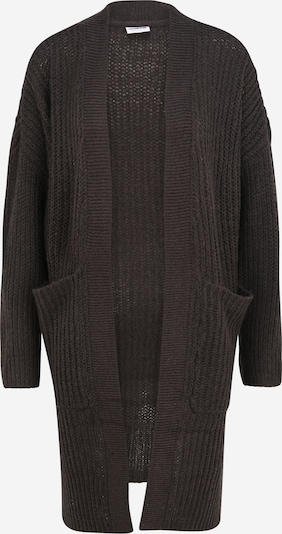 Noisy May Petite Knit Cardigan 'DOLLIE' in Dark grey: Frontal view