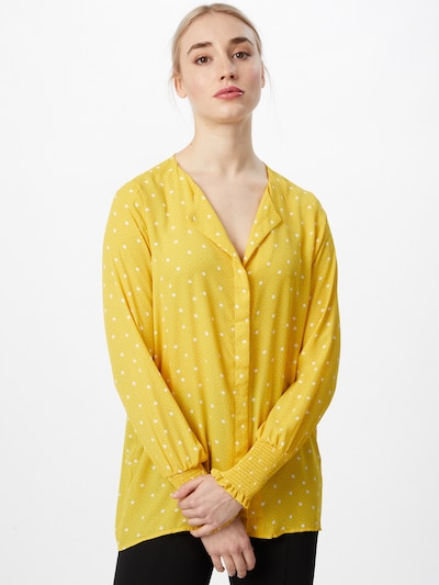 VILA Blouse in de kleur Geel / Wit, Modelweergave