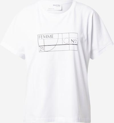 Tricou 'MAIA' SELECTED FEMME pe negru / alb, Vizualizare produs