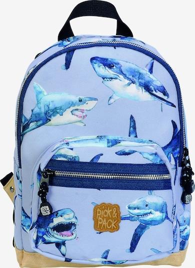 Pick & Pack Rucksack 'Shark' in blau / rauchblau / hellblau, Produktansicht