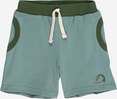 FINKID Pantalon 'ANKKA' en vert clair / vert foncé, Vue avec produit