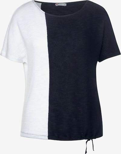 STREET ONE T-Shirt mit Colourblock in blau / weiß, Produktansicht