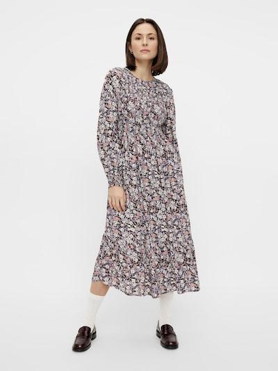 PIECES Kleid in navy / hellgelb / apricot, Modelansicht