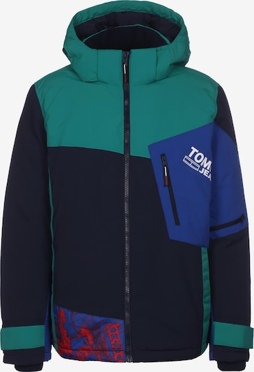 Tommy Jeans Veste d'hiver ' Colorblock Snow ' en bleu / vert, Vue avec produit