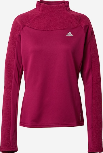 ADIDAS PERFORMANCE T-shirt fonctionnel 'Own the Run Warm' en lie de vin, Vue avec produit