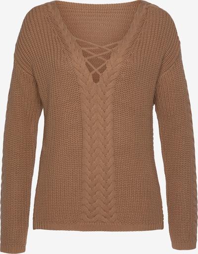 LASCANA Pullover in camel, Produktansicht