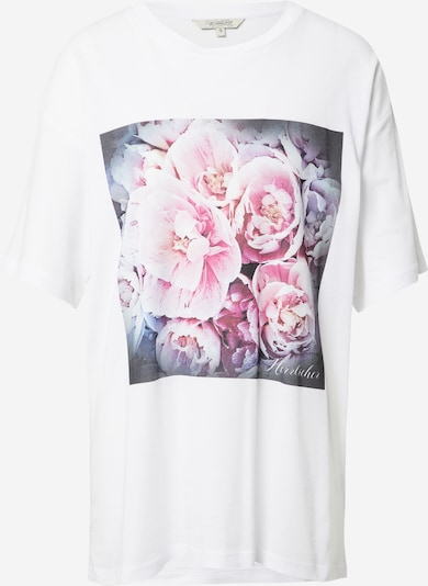 Maglietta Herrlicher di colore grigio scuro / blu violetto / orchidea / cipria / bianco, Visualizzazione prodotti