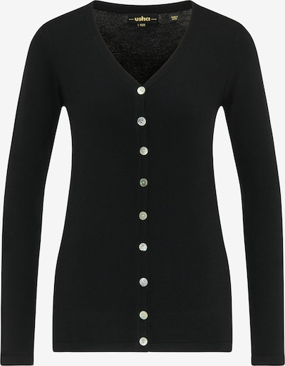 usha BLACK LABEL Strickjacke in schwarz, Produktansicht