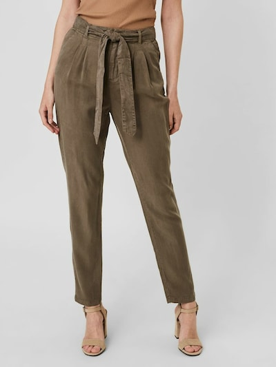 VERO MODA Pleat-front trousers in Anthracite, View model