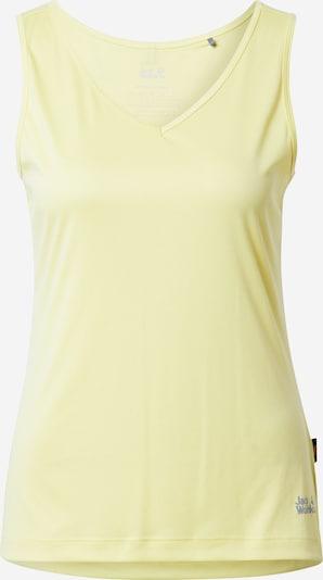 JACK WOLFSKIN Camiseta funcional en amarillo claro, Vista del producto