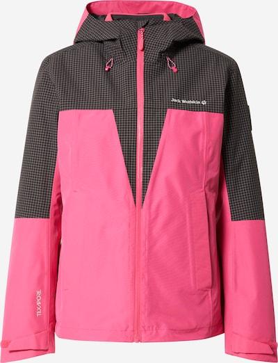 JACK WOLFSKIN Jacke 'Rhapsody' in pink / schwarz / weiß, Produktansicht