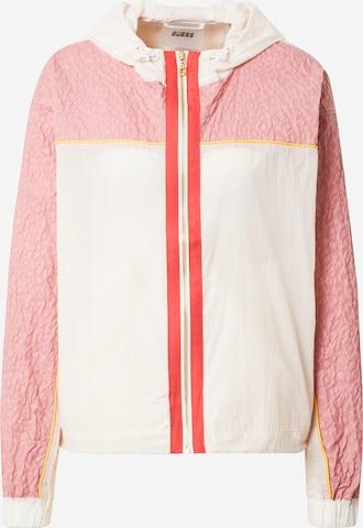 GUESS Kurtka sportowa 'ABIGAYLE' w kolorze różowy