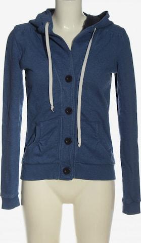 even&odd Sweatshirt & Zip-Up Hoodie in S in Blue