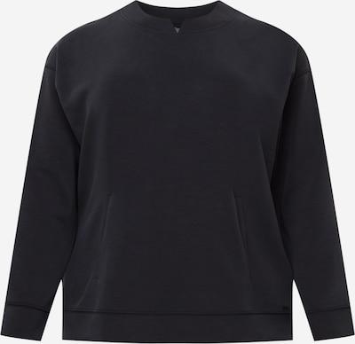 Bluză de molton SAMOON pe negru, Vizualizare produs