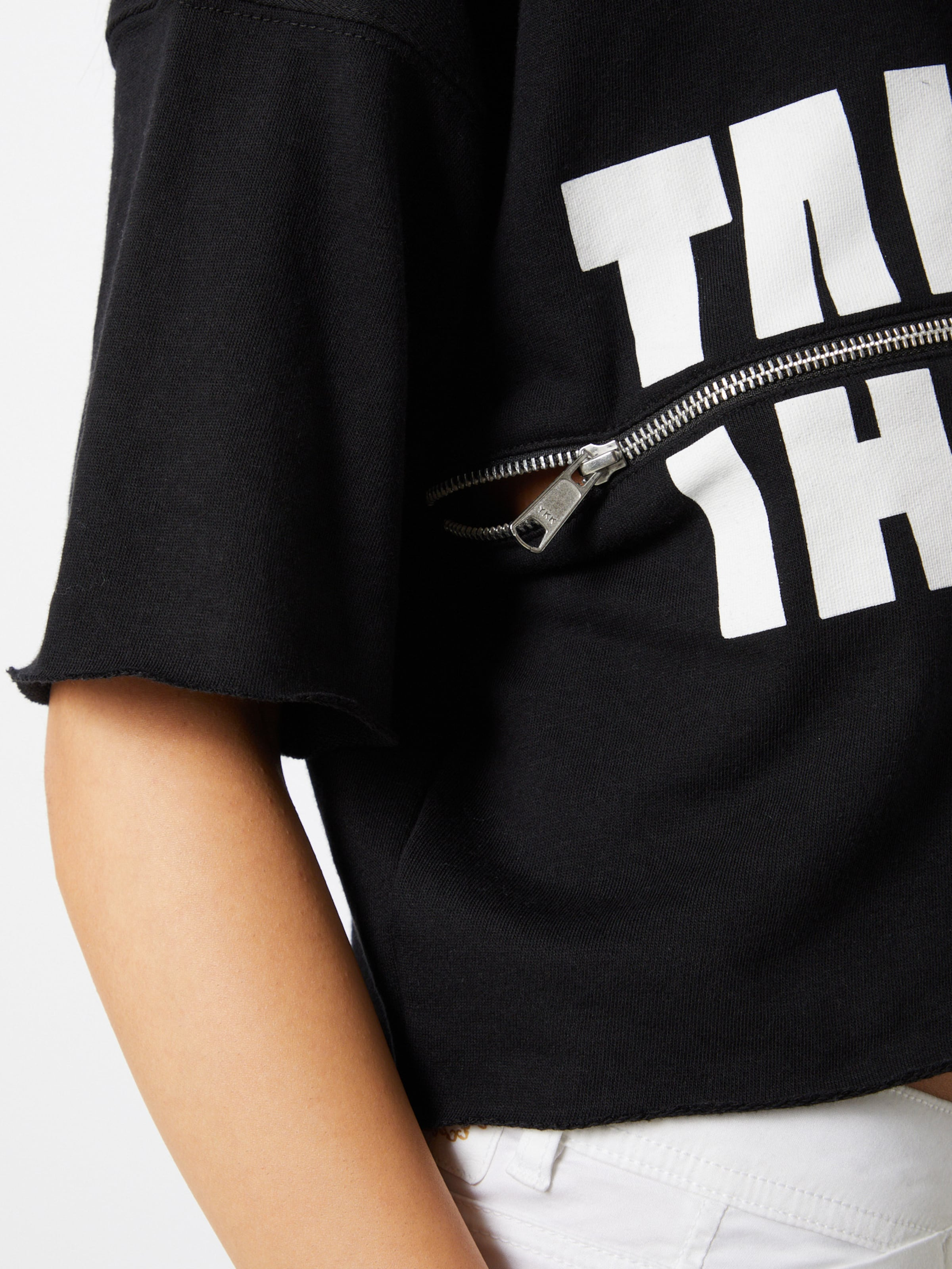 Tally Weijl Sweatshirt i svart / vit
