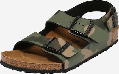 Pantofi deschiși 'Milano' BIRKENSTOCK pe maro deschis / kaki / verde închis, Vizualizare produs