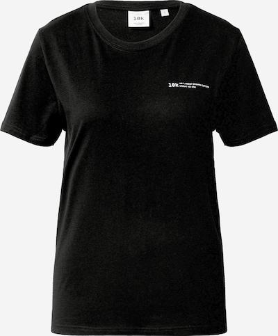 10k Shirt in de kleur Zwart: Vooraanzicht