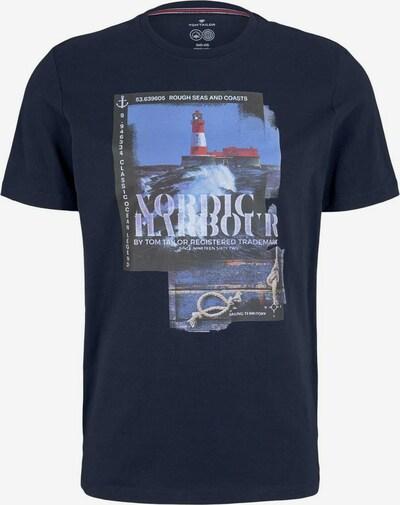 TOM TAILOR T-Shirt in dunkelblau / mischfarben, Produktansicht