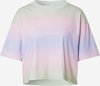 EDITED T-shirt 'Sila' en vert chiné / violet clair / rose, Vue avec produit