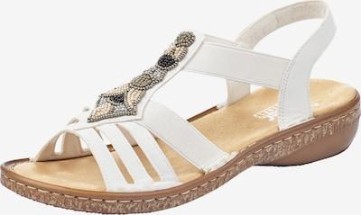RIEKER Sandalen met riem in de kleur Wit, Productweergave