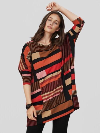 Masai Tunika 'Gabini' in beige / creme / braun / pastelllila / rosa / rot / weinrot / schwarz, Modelansicht