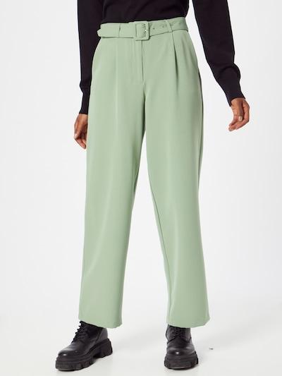 Klostuotos kelnės iš VILA, spalva – pastelinė žalia, Modelio vaizdas