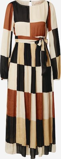 Traffic People Kleid 'Fathom' in creme / kitt / karamell / mischfarben / schwarz, Produktansicht