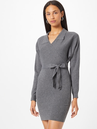 VERO MODA Gebreide jurk 'SUNNA' in de kleur Donkergrijs, Modelweergave