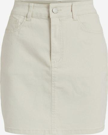 VILA Jeansrock in Weiß