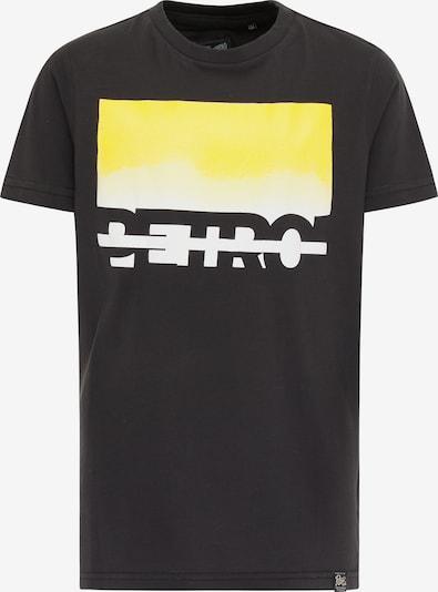 Petrol Industries T-Shirt in gelb / schwarz / weiß, Produktansicht