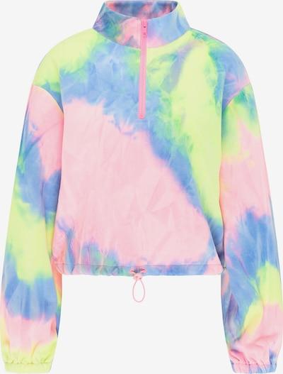 myMo ATHLSR Sportief sweatshirt in de kleur Blauw / Limoen / Pink, Productweergave