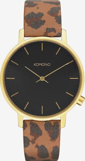 Komono Uhr in braun / gold, Produktansicht