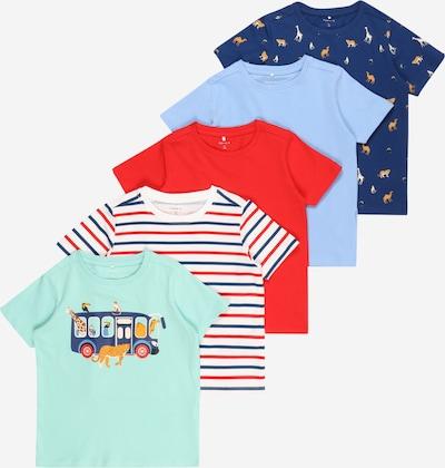 NAME IT Shirt  'BENRIOZ ' in navy / hellblau / ocker / mint / rot, Produktansicht