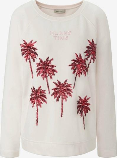 MARGITTES Sweatshirt in pink / weiß, Produktansicht