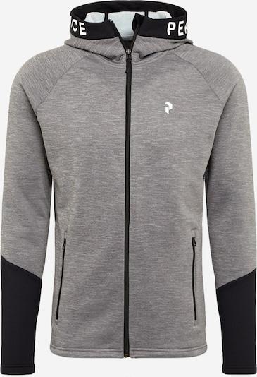 PEAK PERFORMANCE Sportsweatjacke 'Rider' in grau / graphit / weiß, Produktansicht