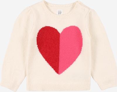 GAP Pullover 'LOVE' in pink / rot / weiß, Produktansicht