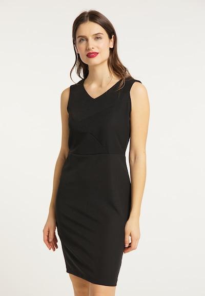 usha BLACK LABEL Kleid in schwarz: Frontalansicht