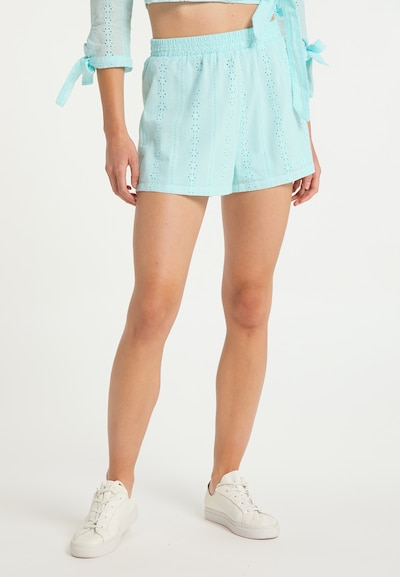 MYMO Shorts in azur, Modelansicht