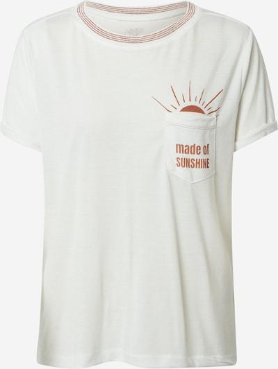 ROXY Functioneel shirt 'BREEZY OCEAN' in de kleur Roestrood / Wit, Productweergave