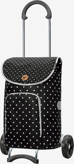 Andersen Shopper Einkaufstrolley 'Ole' in schwarz / weiß, Produktansicht