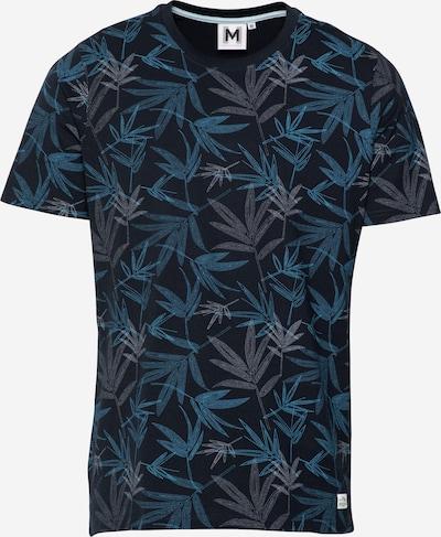 Hailys Men T-Shirt 'Logan' en bleu nuit / bleu ciel / blanc, Vue avec produit